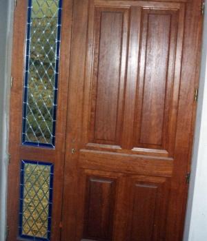 vitraux pour porte d'entrée